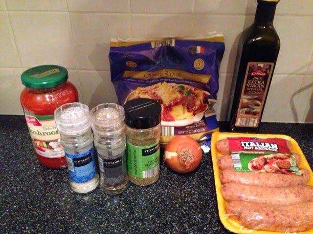 Wishes do come true...: Cheesy Italian Sausage Ravioli Yummy easy Aldi recipe simple dinner