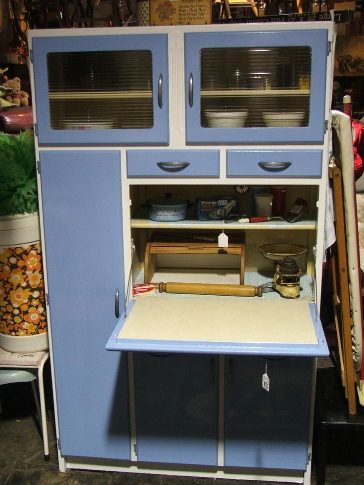 Retro vintage kitchen cabinet larder cupboard unit for Kitchenette cupboard