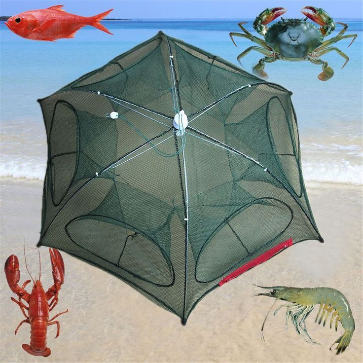 Fb Foldable Crab Net Trap Cast Dip Cage Fishing Bait Fish Minnow Crawfish Shrimp