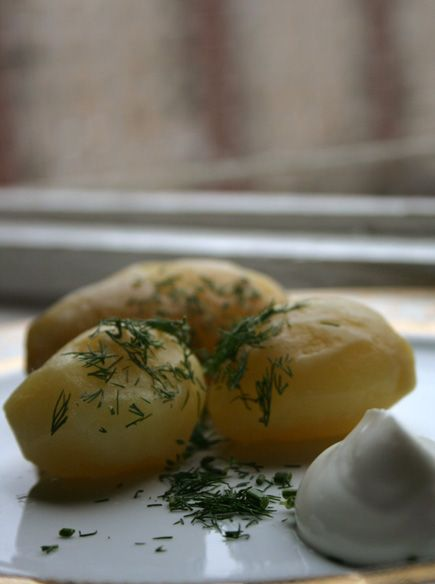 A common Russian side dish - Potato With Dill And Sour Cream | Russian Chef | Russian Cuisine