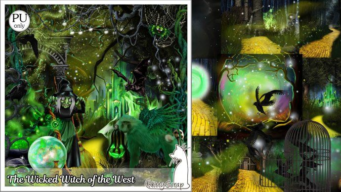 kit the wicked witch of the west by kittyscrap - $3.50 : ScrapBird!, source for digital scrapbooking