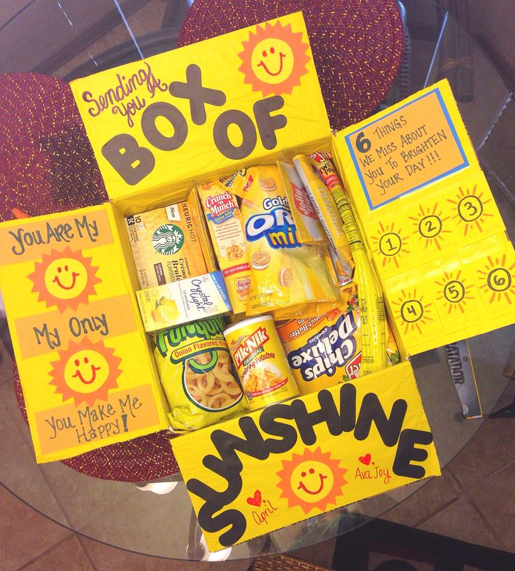 Box of Sunshine Care Package for Spring or Summer