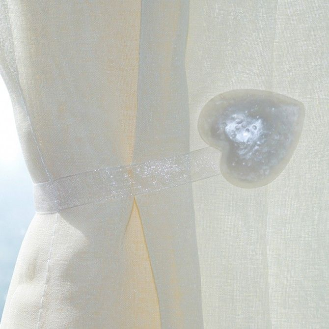 Amazing Share This Page With Others And Get 10% Off! White Heart Magnetic Curtain  Holdbacks