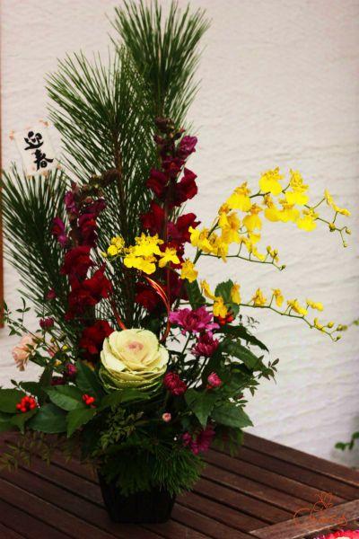 Chances News #flower #NewYear #お花 #フラワーアレンジメント #豪華 #お稽古 #北堀江 #lesson #オンシジューム #お正月