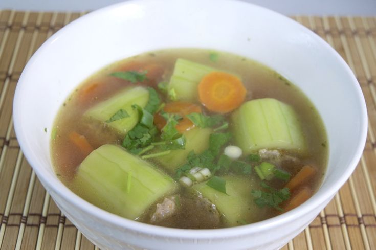 This is a healthy and fresh tasting soup that is slightly salty, savoury, and very mild. The dish consists of hollowed out pieces of cucumber stuffed with a pork mixture, which is then cooked in…