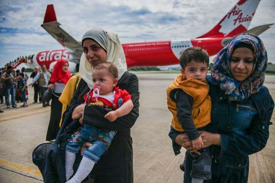 Syrian Immigrants Arrive In Malaysia As Part of The Migrant Placement Program - Mohd Samsul Mohd Said/Getty Images