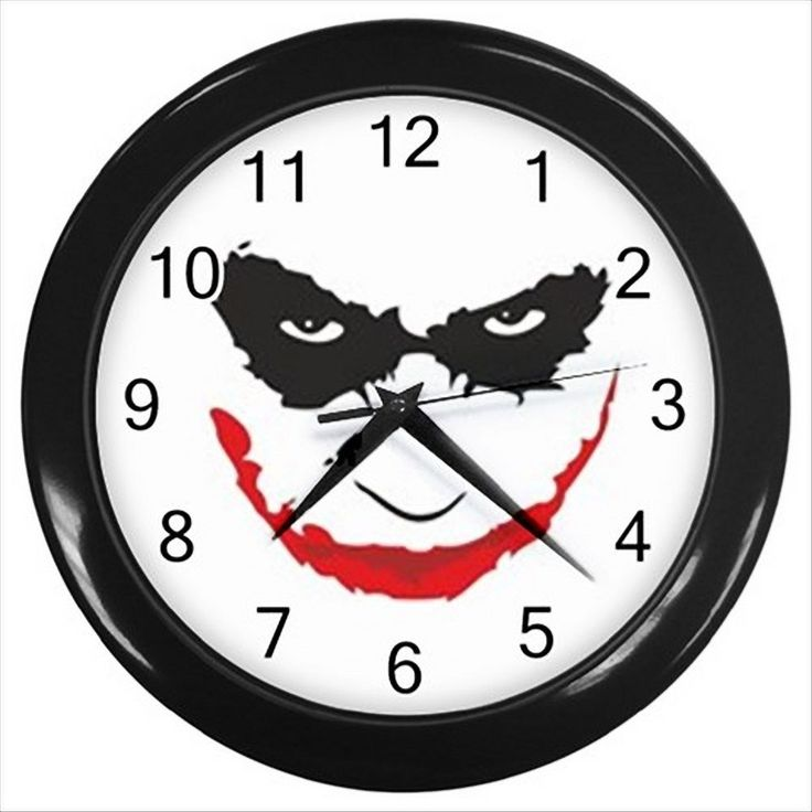New Hot Batman The Joker Round Black Wall Clock Room