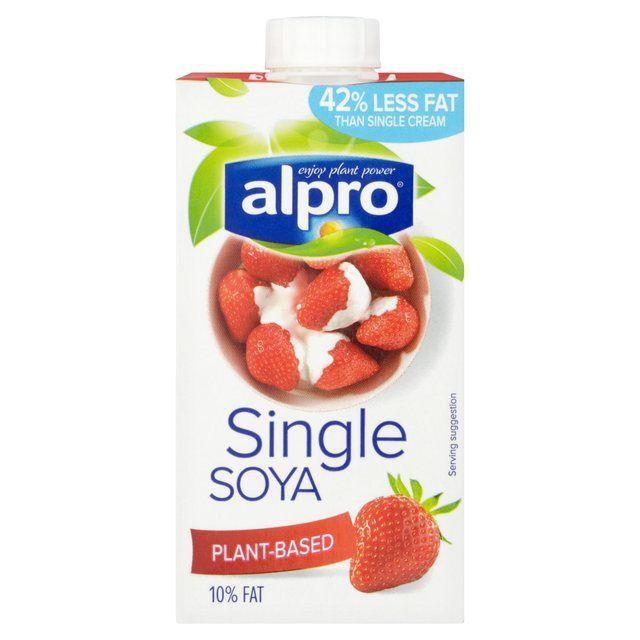 Morrisons: Alpro Soya Single Cream 250ml(Product Information)