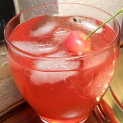 Cherry Vodka Sour: 3 oz vodka - 3 oz sweet and sour mix - 1 tablespoon cherry grenadine syrup. Stir together vodka, sweet and sour mix, and grenadine in an 8 ounce glass. Fill with ice.
