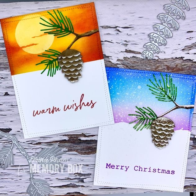 2020 Memory Christmas Cards Forest Pinecone Branch Through Two Seasons by Trina Pham (Outside
