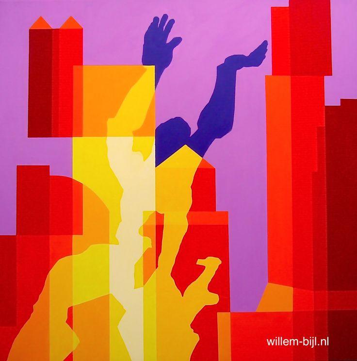 25 beste idee n over stad schilderij op pinterest city art - Hang een doek ...