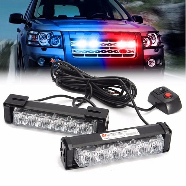 2 in 1 LED Strobe Flashlight Network Warning Light For SUV Car Truck Off Road Driving