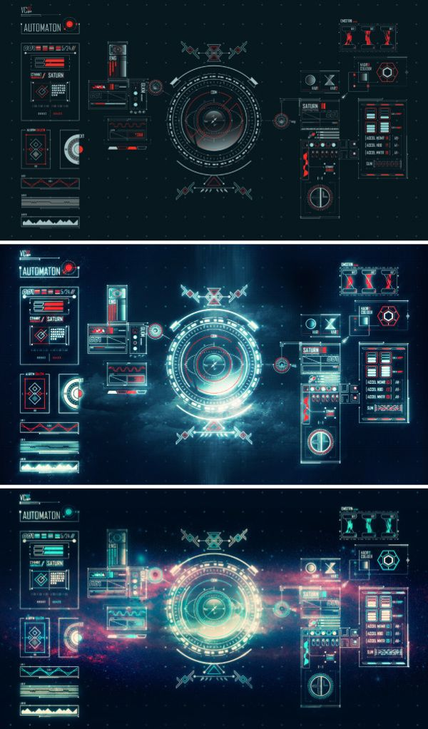 Space Age UI by Benedict Aji, via Behance