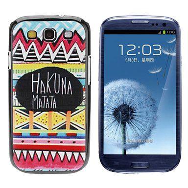 Hakuna Matata kleurrijk hoesje voor Samsung Galaxy S3