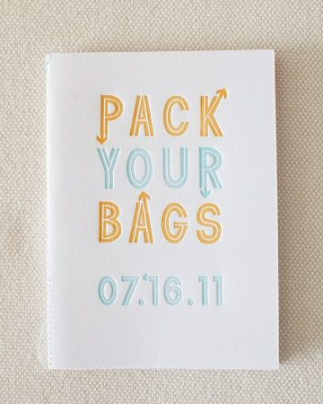 Simple and adorable wedding invitation for a destination wedding