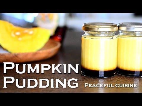 Pumpkin pudding (vegan) ☆ かぼちゃプリン - YouTube