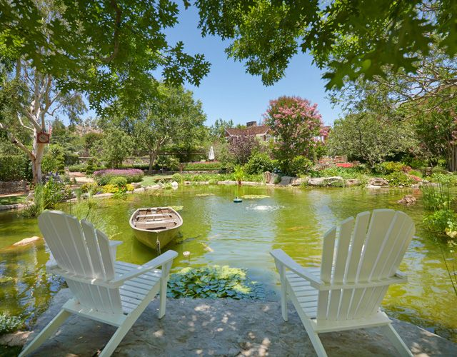 House crush tour this totally stunning california estate for Koi ponds for sale