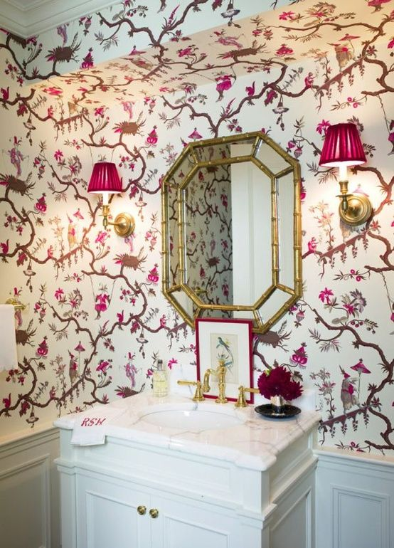 Chinoiserie Chic: One Room Challenge - Powder Room Inspiration