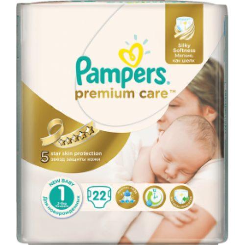 Pampers Premium Care 1 Newborn, 22 ks  Dětské pleny levně! Doprava zdarma při objednání za 1000 Kč!  https://babyplenky.cz/
