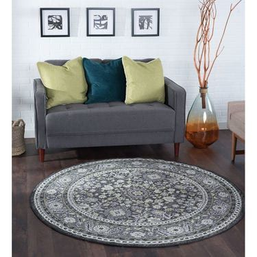 This floral Oriental area rug sets a standard in traditional décor. Updated with today's fashion colors while staying true to its heritage. Power loom machine made of polypropylene yarn on jute backing for a substantial feel. Luxurious look at a value price that works with any budget. Vacuum on high pile setting; spot clean with mild detergent and water when necessary. Do not bleach.