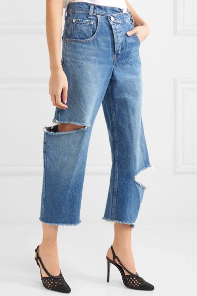 3c003d7608d Monse - Distressed boyfriend jeans in 2019 | Spring 2019 | Jeans ...