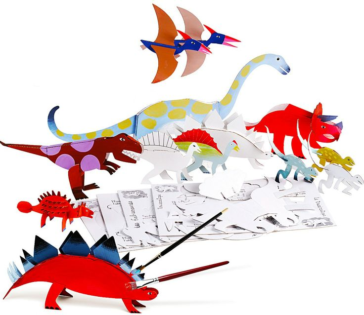 Create your own bright and colourful dinosaur models with this craft set from French company Mitik. A perfect gift or party activity for children aged from 5 upwards.