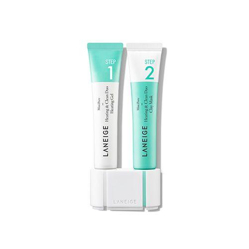 LANEIGE Mini-Pore Heating & Clean Duo 0.5 oz * 2  mild-type 2step blackhead care #Laneige#blackheadCleansing#Mini pore care#Sebum Control