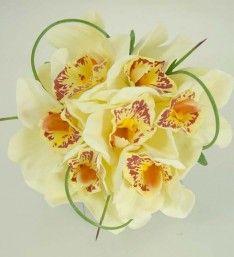 Ivory Silk Cymbidium Orchid Childrens Posy