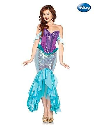 Women's Deluxe The Little Mermaid Princess Ariel Disney Costume