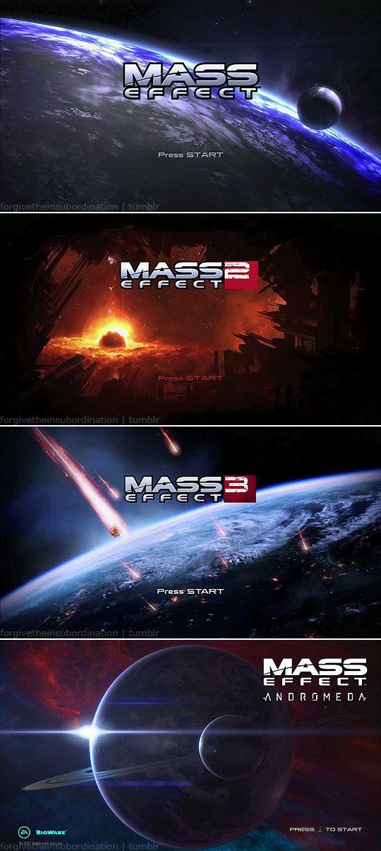 Mass Effect Title Screens