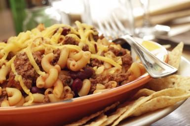 This Crock Pot Chili Mac Recipe Includes Ground Beef and Beans: Chili Mac and Cheese