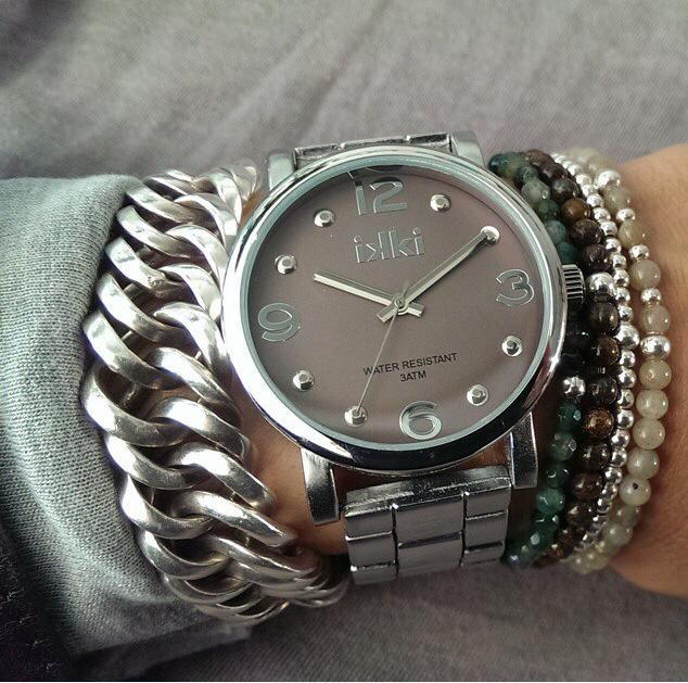 Pretty in silver, ikki horloge, watch, armcandy, clasy, jewels, jewelry, ikki style. www.ikkifashion.com