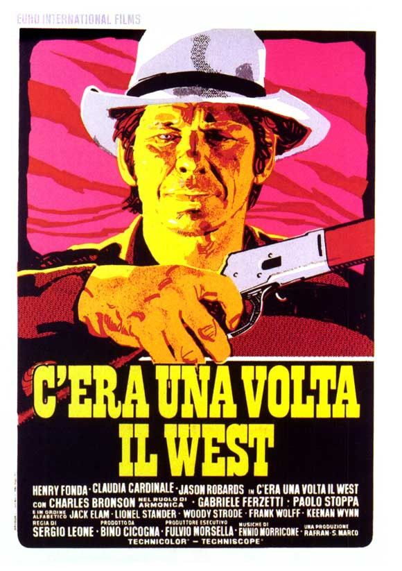 """CAST: Henry Fonda, Jason Robards Jr., Charles Bronson, Claudia Cardinale, Keenan Wynn, Lionel Stander, Woody Strode, Jack Elam; DIRECTED BY: Sergio Leone; PRODUCER: Bino Cicogna; Features: - 11"""" x 17"""""""