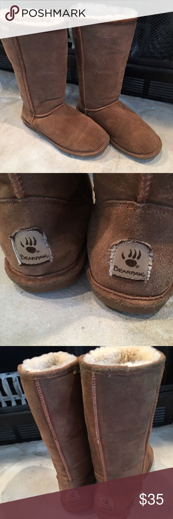 Bear claw boots Beautiful bear claw boots with sheep's skin wool  lining  in good condition only used it for few times Bear claw Shoes Winter & Rain Boots