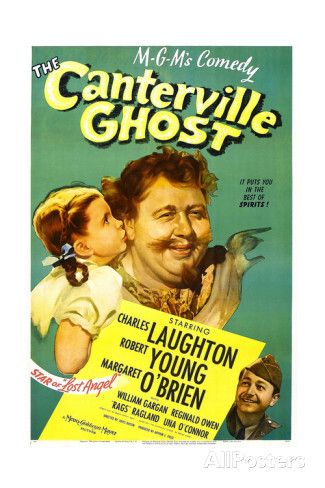THE CANTERVILLE GHOST, US poster, Margaret O'Brien, Charles Laughton, Robert Young, 1944 Art Print