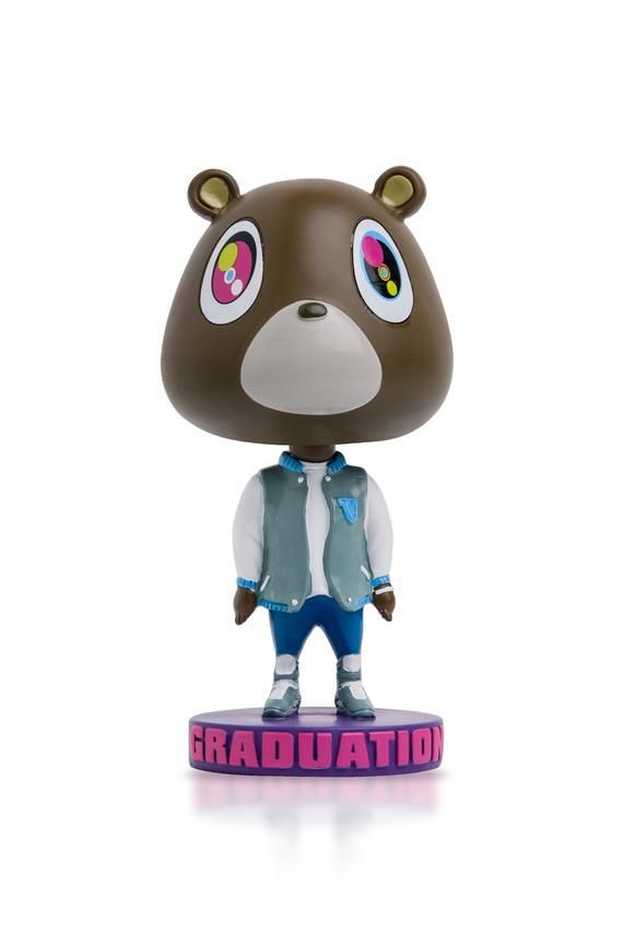 Kanye West Graduation Bear Bobblehead Yeezy College Dropout Life Of Pablo Yeezus Bear Bobbl In 2020 Kanye West Graduation Bear Graduation Bear Kanye West Bear