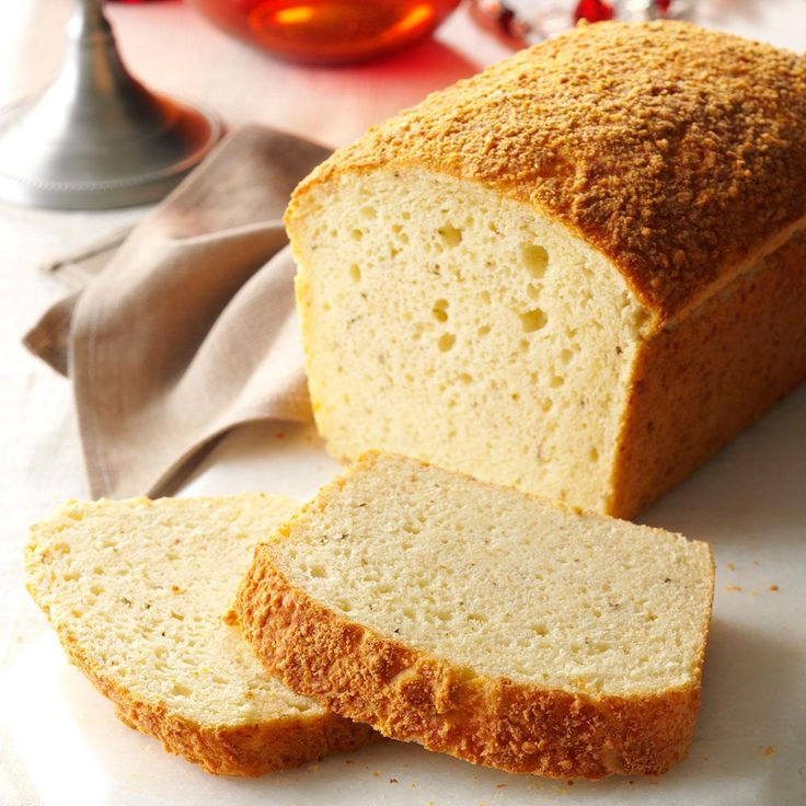 Herbed Parmesan Bread Recipe -I've been making my Parmesan bread for so many years, I can no longer recall where I got the recipe! Thanks to a convenient baking mix, a freshly made loaf gets in the oven fast. —Lesley Archer, Chapala, Mexico
