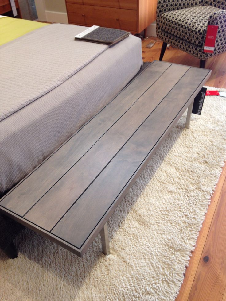 gray wood bedroom bench u0026 patterned chair room and board