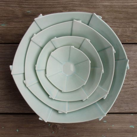 Love the overlapping... - by Danish ceramic artist, Pia Baastrup