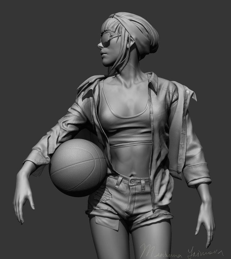 a 3d model made in zbrush for illustration. for cloth I used marvelous designer
