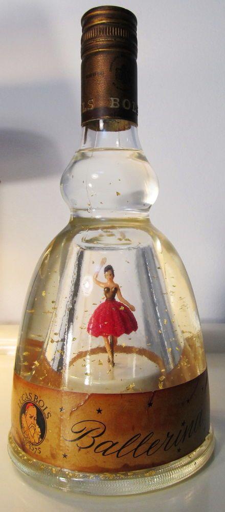 Bols Ballerina Bottle Dancing Musical Box SEALED Gold Liquor