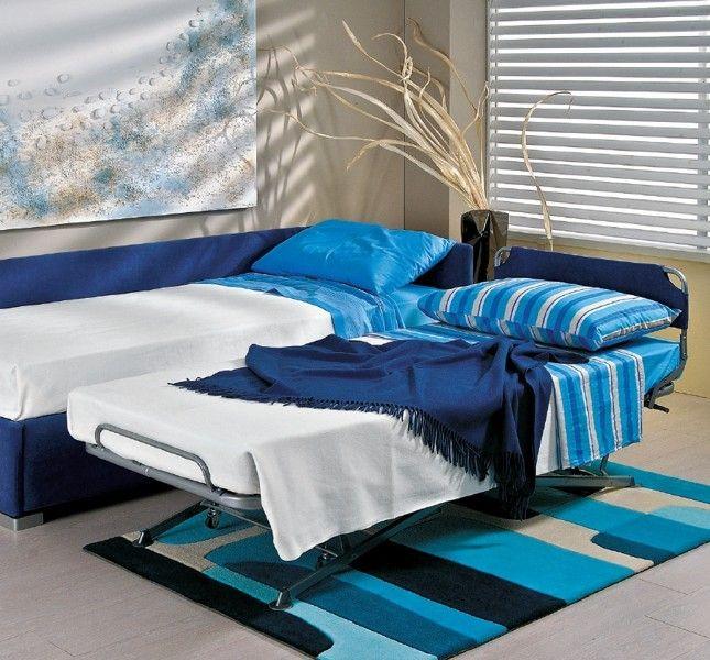 BADROOM - centri camerette specializzati in camere e camerette per ragazzi - letto singolo imbottito con due letti