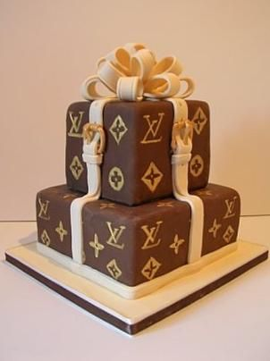 LV cake... yes please with a purse to go with....thanks a bunch...
