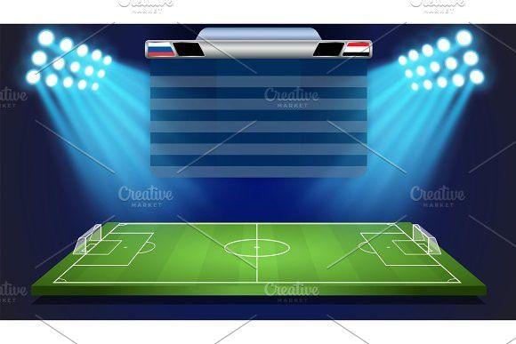 Soccer Field With Scoreboard Football Stadiums Soccer Field Soccer