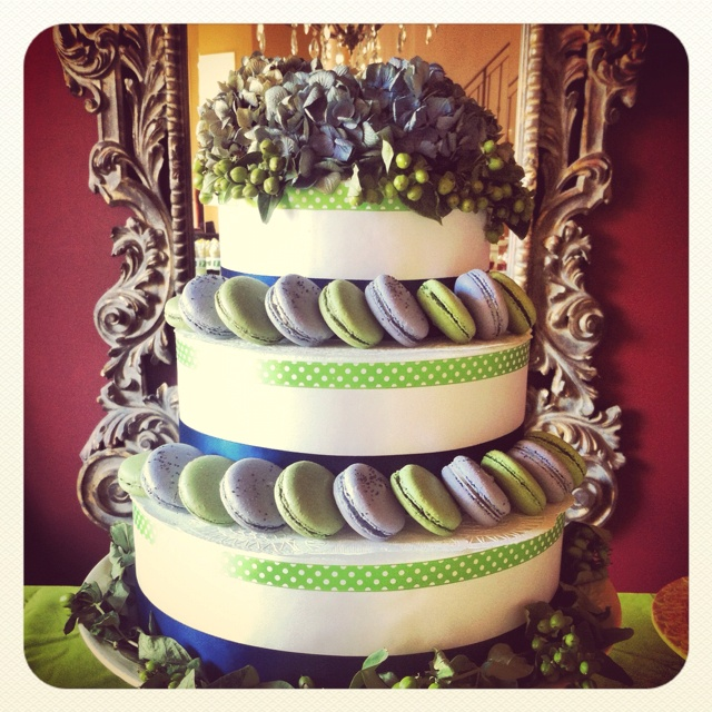 Macaron Wedding Cake for bridal shower