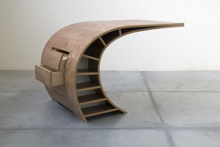 An original and dynamic desk by Dutch furniture designer Jan Willem van der Weij.