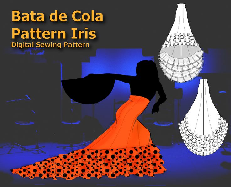 Bata de Cola Pattern Iris | Flamenco Dressmaking