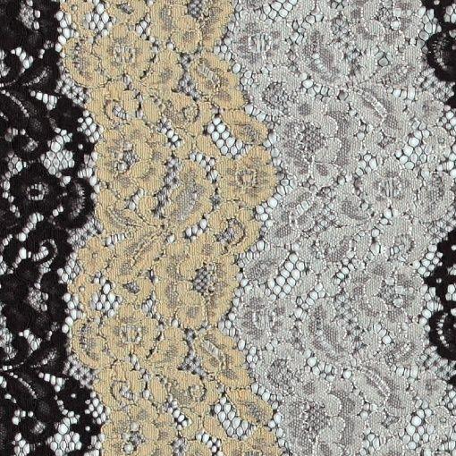 Blonde sort/beige/grå med blomster