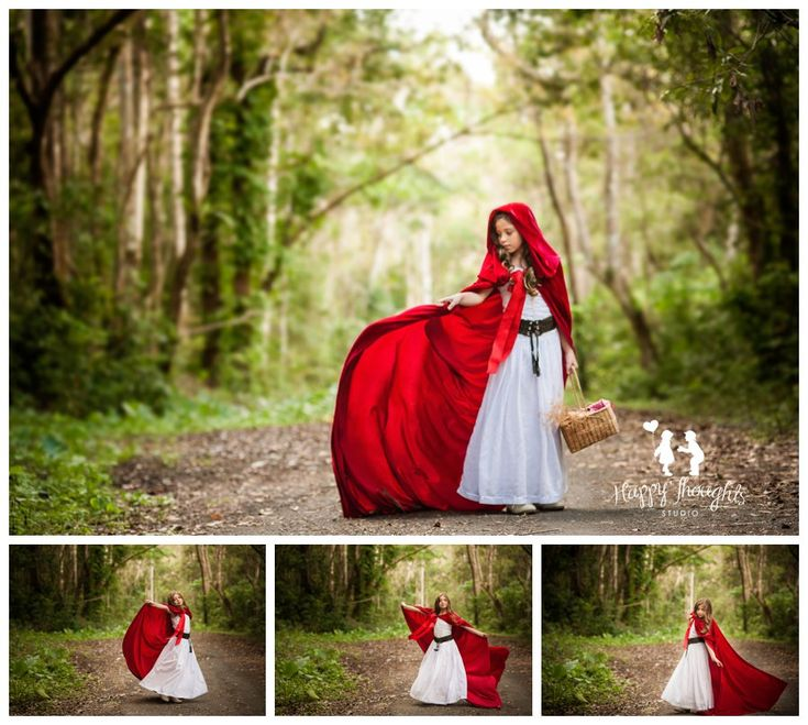 Little Red Riding Hood inspired children photography