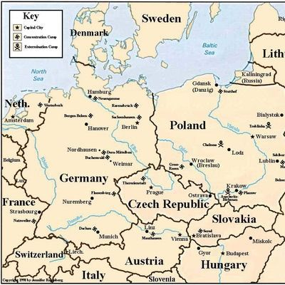 Best RESEARCH Images On Pinterest History Camps And Europe - Germany map of concentration camps